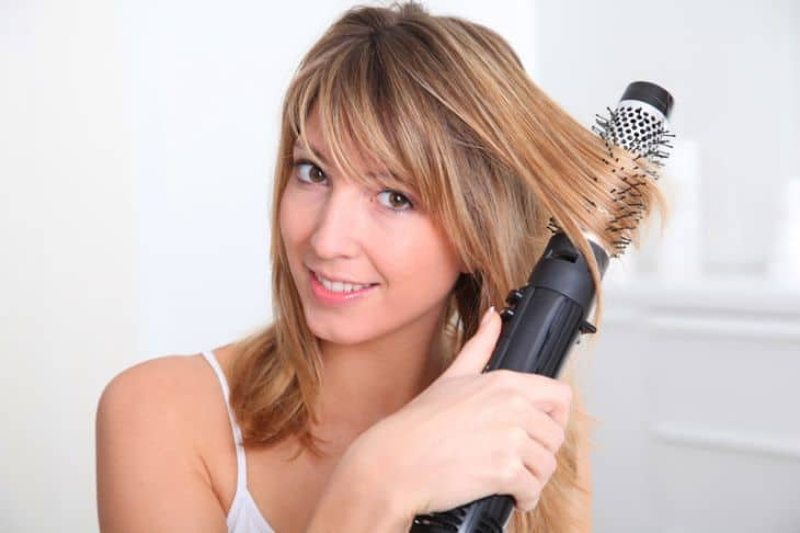 hot air styling brush