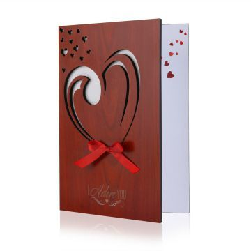 Bestomz Handmade Wooden Card