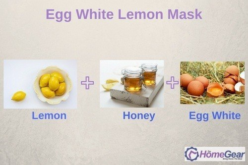 Egg White Lemon Mask